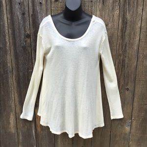 Free people pale yellow thermal,